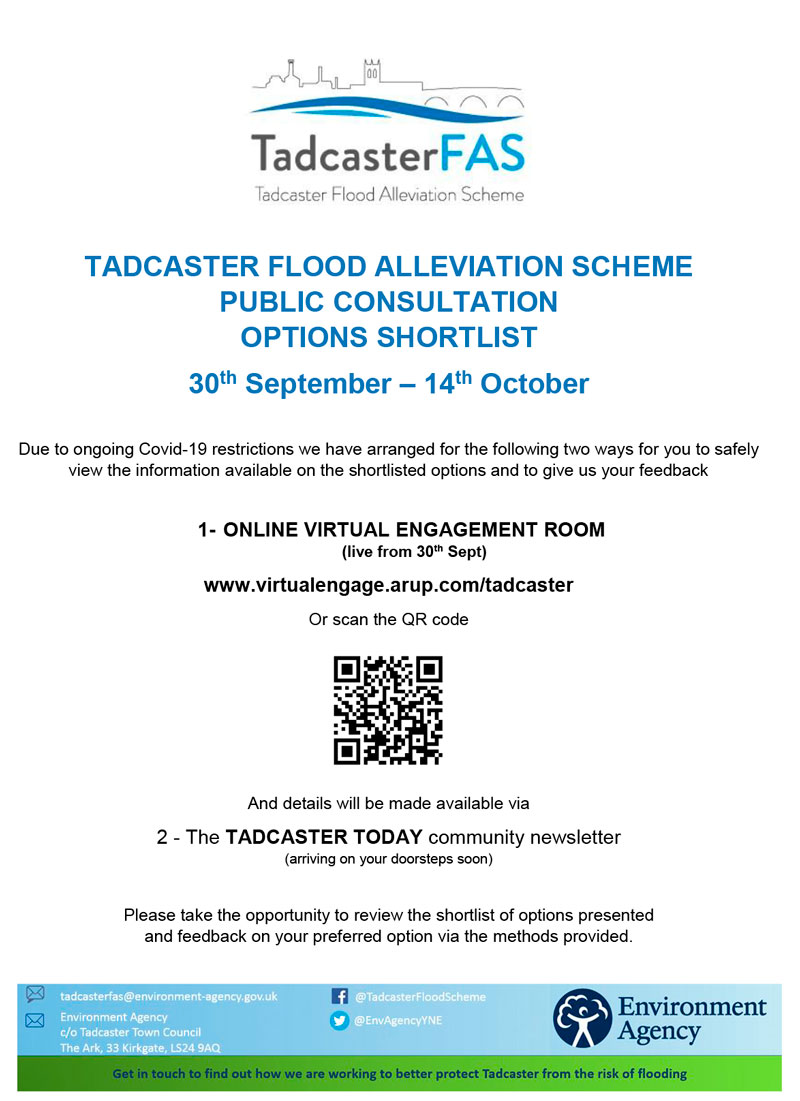 Tadcaster FAS Public Consultation Poster